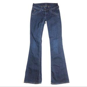 Hudson jeans 24 wide leg dark wash hippie pants